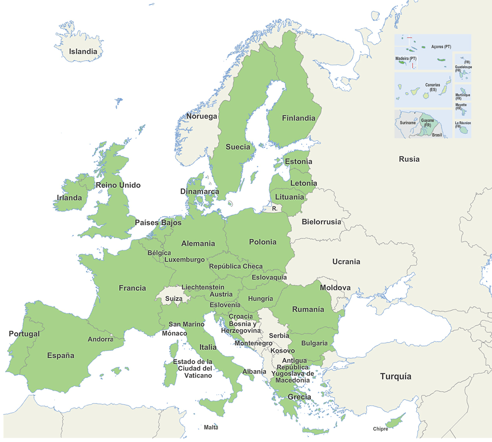 28 países miembros de la Comunidad Económica Europea